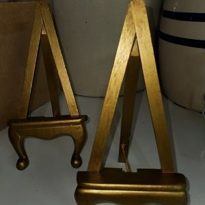 9 inch Wooden Gold Easel (1 each listing)